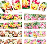 8pcs  Nail Art Water Transfer Stickers Beautiful Rose  Image Fashion C192-195
