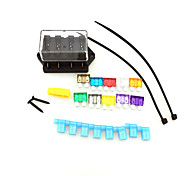 carro del coche de circuito de 4 vías iztoss estándar apara fusible hoja 24v 12v soporte del bloque de la caja con fusibles y herramientas