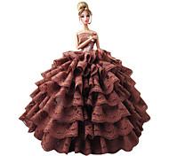 Barbie Doll-Abiti-Stile Principessa- diRaso / Pizzo-Multicolore-Abiti