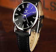 YAZOLE mens watch Vintage Blue Reflected Glass Big Dial Waterproof Quartz Watch montre homme wristwatch Wrist Watch Cool Watch Unique Watch