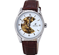 Unisex Skeleton Watch Fan Belt Disc Automatic Mechanical Watch Male Ms. Universal