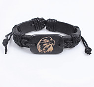 Men's Fashion Leather Ceramic Bracelet
