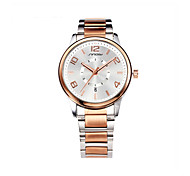 SINOBI Men's Wrist watch Calendar Water Resistant / Water Proof Sport Watch Quartz Alloy Band Rose Gold