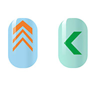 Orange/Green Hollow Nail Stickers