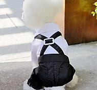 Dog Tuxedo Black Dog Clothes Summer Spring/Fall Britsh Wedding New Year's
