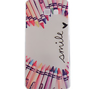 Pencil Love Pattern Soft TPU Case fot Samsung Galaxy A310 A510 A710