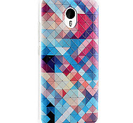 For Meizu Case Pattern Case Back Cover Case Geometric Pattern Soft TPU Meizu