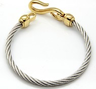 Rough Hook Cable Stainless Steel Bangle