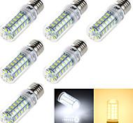 4W E14 / E26/E27 LED a pannocchia T 48 SMD 5730 250 lm Bianco caldo / Luce fredda Decorativo AC 220-240 / AC 110-130 V 6 pezzi