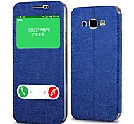 materiales casos de cuerpo completo de cuero de la PU para Samsung Galaxy J5