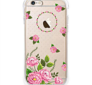 Capa Inteiriça corpo transparente Flor TPU Macio Airbag AntifallCase Cover ForApple iPhone 6s Plus/6 Plus / iPhone 6s/6