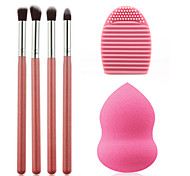 Eyeshadow 4pcs Makeup Brush Cosmetic Tool Blending Pencil Set Gourd Sponge Beauty Puff Blender Cleaning Glove Silicone