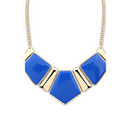 Necklace Pendant Necklaces Jewelry Party / Daily / Casual Alloy / Resin Dark Blue / Beige / Black / Blue / Orange / Green / Pink 1pc Gift
