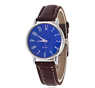 Men's Luxury Leather Band Black Blue Case Military Sports Style Watch Jewelry Cool Watch Unique Watch