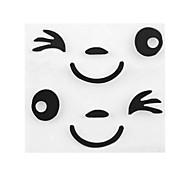 ziqiao мар новый приход улыбка дизайн лицо наклейка 3d украшение для бокового зеркала заднего вида автомобиля