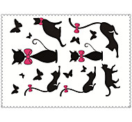 5PCS Fashion Cats Body Art Waterproof Temporary Tattoos Sexy Tattoo Stickers (Size: 3.74'' by 5.71'')