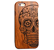 For iPhone 5 Case Pattern / Embossed Case Back Cover Case Skull Hard Wooden for iPhone SE/5s/5