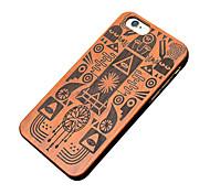 caso ultra sottile di legno egiziano faraone protettiva copertura posteriore dura iphone PC per il iPhone SE / 5s iphone / iphone 5