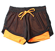 Women's Running Breathable Bottoms Shorts Running Sports Wear Orange