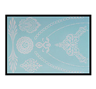 Lovely HENNA Lace Big White Face Sticker 05