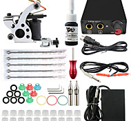 Poignées aiguille alimentation d'encre d'alimentation des conseils de kit complet machine à tatouer 2 arme professionnelle