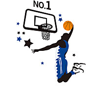 Basketball Champions Sports Wall Stickers Removable PVC NO.1 Kids Room Bedroom Wall Decals