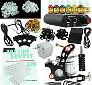 kit de tatuagem iniciante fonte de alimentação 7 equipamento de uma máquina conjunto de tintas