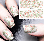 Fashion Printing Pattern Water Transfer Printing Floral Nail Stickers