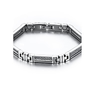 Magnetic Therapy Bracelet Men's Jewelry Health Care Silver Titanium Steel Bracelet Christmas Gifts