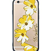 iPhone 6s Plus/6/iPhone 6s/6 TPU Soft Flower Back Cover