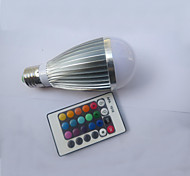 E27 85V-265V 450-600Lm 9W RGB Remote Control LED Colorful Bulbs