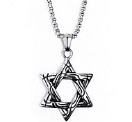 Men's Fashion Punk Style Hexagram Titanium Pendant for Necklace