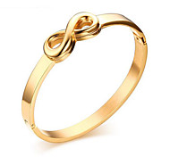 Women's Fashion Gold Stainless Steel Cuff Bracelet