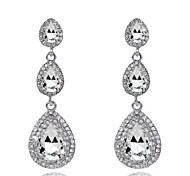 Lady's Gem Zircon Drop Earrings Fine Jewelry for Lady Party