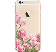 For Case Cover Transparent Pattern Back Cover Case Flower Soft TPU for Apple iPhone 6s Plus iPhone 6 Plus iPhone 6s iPhone 6