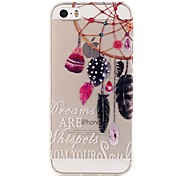 For iPhone 5 Case Transparent / Pattern Case Back Cover Case Dream Catcher Soft TPU iPhone 7 Plus / iPhone 7 / iPhone SE/5s/5