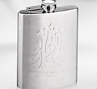 7oz Portable Hip Flask Flagon Wine Bottle Set Stainless Steel Gift Box Pocket