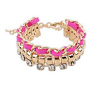 Alloy / Rhinestone Bracelet Strand Bracelets Wedding / Daily / Casual 1pc