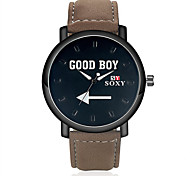2016 SOXY Men's Watch Quartz Analog Water Resistant Alloy PU Fashion Watch(Assorted Color) Cool Watch Unique Watch