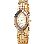Women's Fashionable  Retro Glasses Oval Bracelet Watch