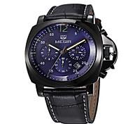 MEGIR® Men's Leather Band 30M Water Resistant Dress Wrist Watch Jewelry Cool Watch