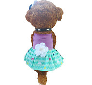 Dog Dress Purple Summer Hearts