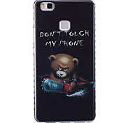 Chainsaw Bear Pattern PU Material Phone Case for Huawei P9 Lite/P9