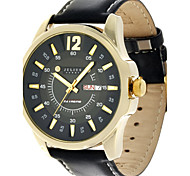 Julius® Korea Fashion Waterproof Leather Belt Round Dial Calendar Function Men Watch JAH-017