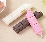 caneta esferográfica de chocolate bar (cor aleatória)