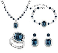 Thousands of colors Women's Alloy Jewelry Set Crystal-9-1-1-699-2-584-3-119-4-085