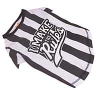 Perros Camiseta Negro Ropa para Perro Verano Cebra