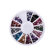 Nail Rhinestones 2mm Acrylic Nail Art Rhinestones Decoration For UV Gel Phone Laptop DIY Nail Tools