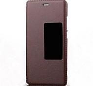 originais caso window view pu caso da aleta de couro para Huawei P9 / P8 / P7