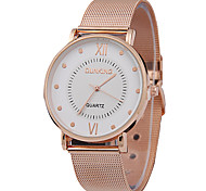 Men's Fashion Watch Casual Watch Quartz Alloy Band Rose Gold